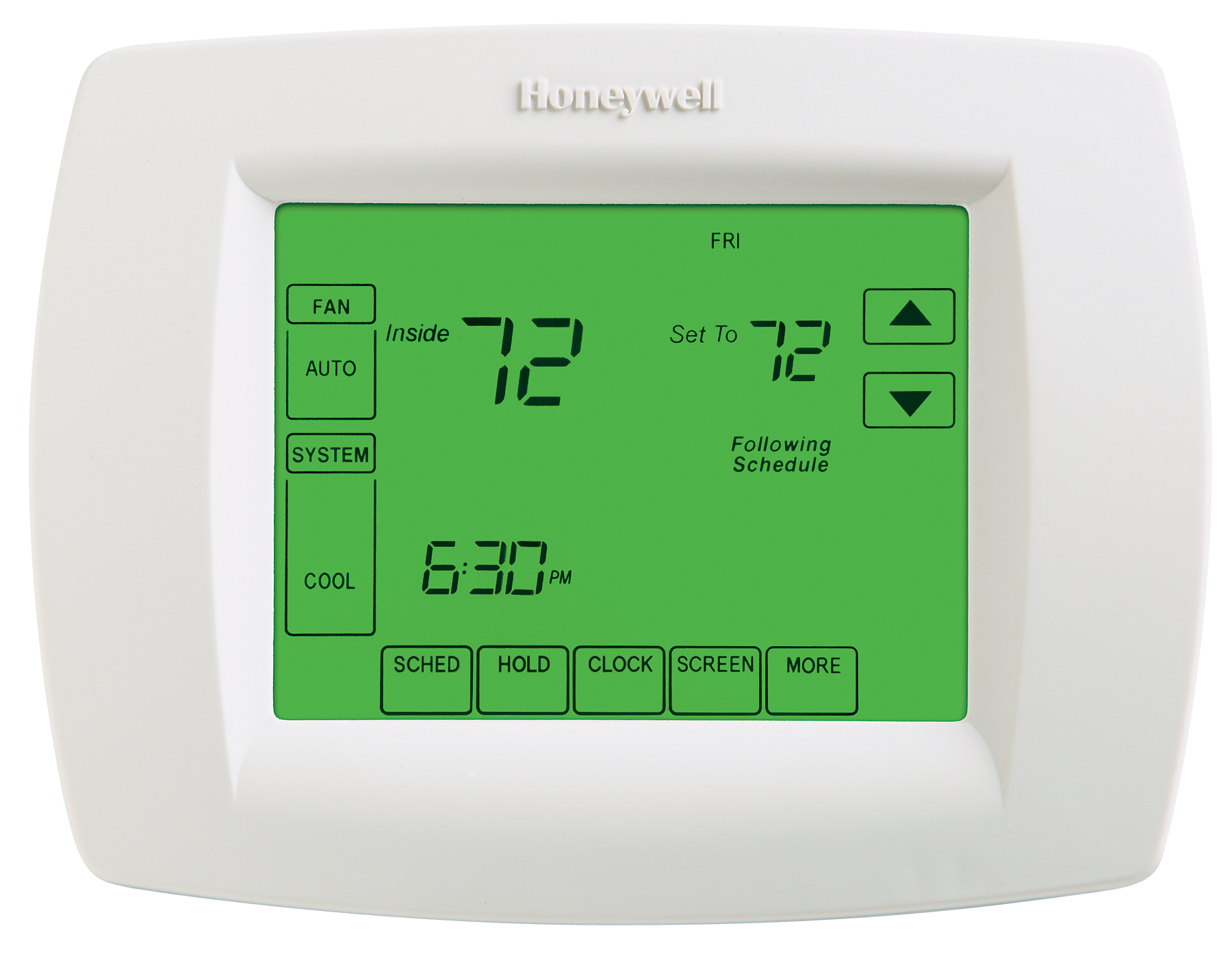 Honeywell's 7 day Thermostat is Easy to See and Easy to Program. Honeywell's  Touchscreen 8000 Programmable Thermostat offers the perfect blend of  features, ...
